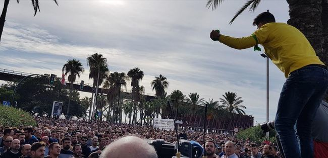 Bernabé intentó dividir la manifestación de agricultores