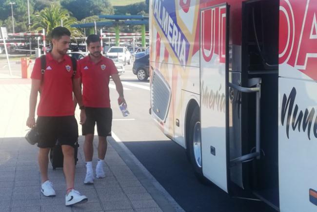 El Almería entrenará el lunes por la tarde