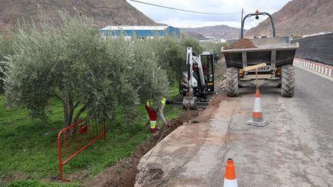 Trabajos de estabilización de la carretera de Peñarrodada
