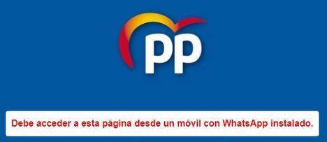 El PP abre un canal pública de wasap