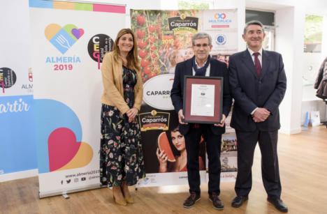 La sede de Almería 2019 acoge la entrega del certificado de Empresa Saludable a Caparrós Nature