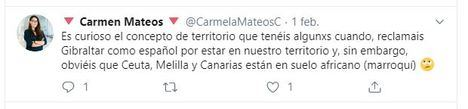 La concejal de Podemos en Almería equipara el status de Gibraltar con Ceuta, Melilla y Canarias