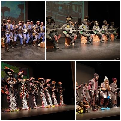 Carnaval viajero con grupos de Serón, Málaga, Torrevieja y Jaén