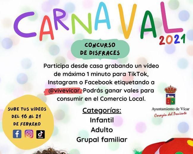 Vícar Invita A Celebrar El Carnaval Desde Casa