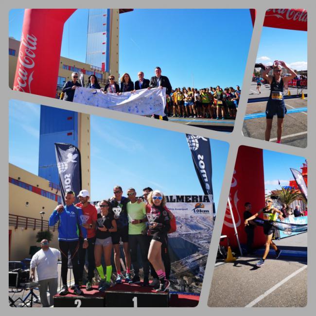 700 corredores en los '10 Km del Puerto de Almería' para concienciar sobre el autismo