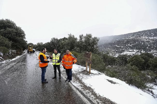 Diputación restablece el tráfico en las carreteras afectadas por Gloria