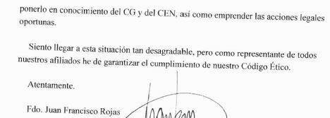 El presidente de Vox Almería amenaza a la disidencia