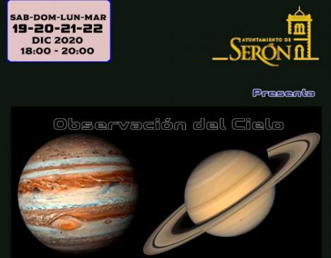 El Planetario de Serón acoge el acercamiento histórico entre Júpiter y Saturno
