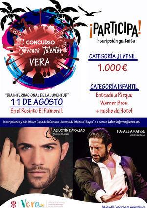 Rafael Amargo y Agustín Barajas serán jurado en la II Edición del Jóvenes Talentos de Vera