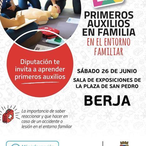 La Diputación Provincial y el ayuntamiento de Berja organizan un taller de primeros auxilios en familia