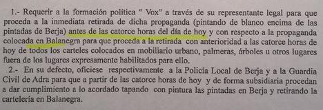 Vox se salta la Ley Electoral y el civismo en Berja y Balanegra
