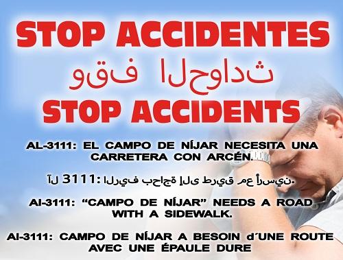 Tras varios accidentes con ciclistas Cáritas pide un arcén que salve vidas en Níjar