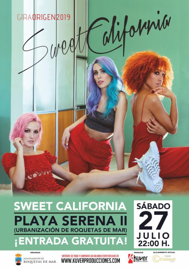 """""""Sweet California"""" este sábado en Playa Serena II con entrada libre"""
