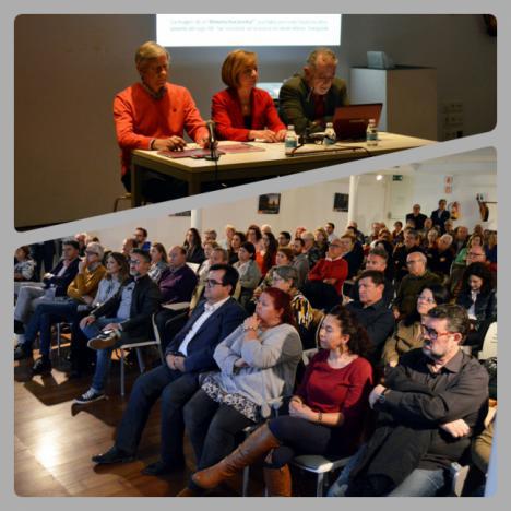 150 personas en la presentación de la propuesta de Catálogo de Edificios Protegidos de Amigos de la Alcazaba