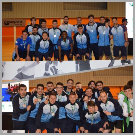 Campeona de Andalucía en vóley masculino, la UAL iguala las ocho medallas de 2018