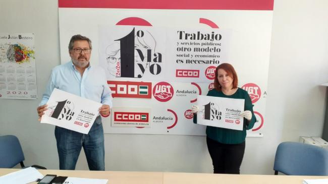 CCOO y UGT convocan una manifestación virtual por el 1 de Mayo