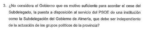 El PP pide cesar a De la Fuente por la rueda de prensa del senador Martínez en la Subdelegación