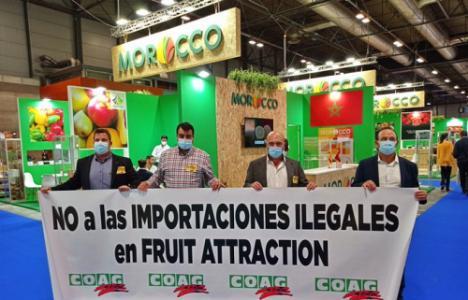 """COAG dice """"NO a las importaciones ilegales en Fruit Attraction"""""""