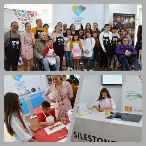 Esther, de Masterchef Junior 5, en un taller inclusivo en Almería 2019