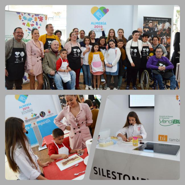 Esther, de Masterchef Junior 5, en un taller inclusivo en Almería 2019