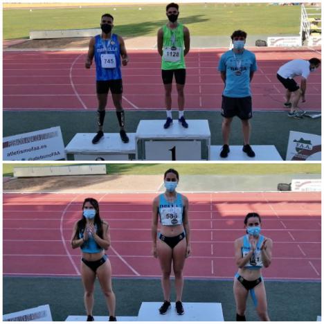 Los hermanos Hernández Villamor son campeones de Andalucía sub23 en 100 metros lisos