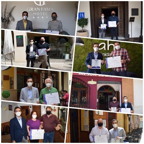 Carlos Sánchez entrega 7 diplomas de calidad turística SICTED