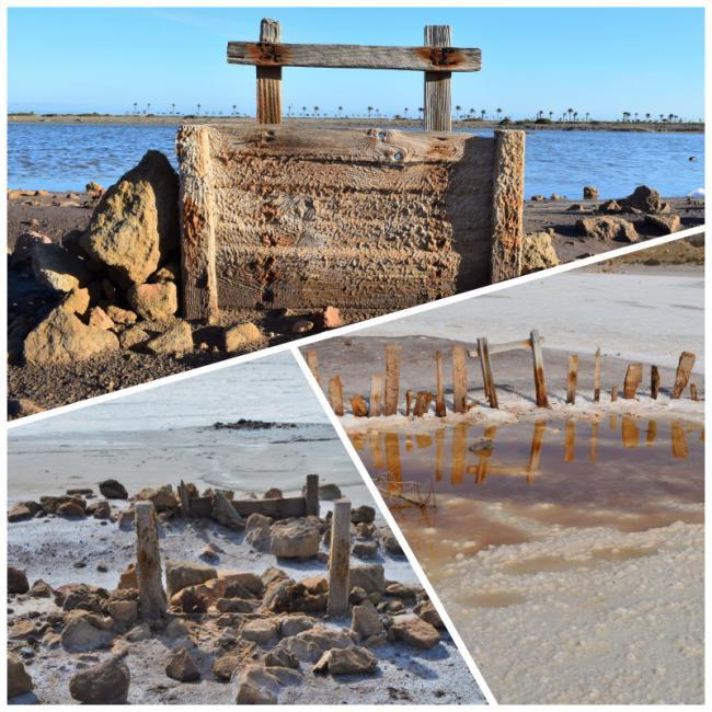 Destrozan una de las últimas compuertas de las Salinas de Roquetas