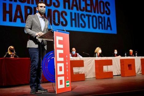 """El alcalde aboga por un sindicalismo """"activo y receptivo"""" en el XII congreso de CC.OO"""