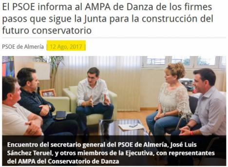 El PSOE confirmó su