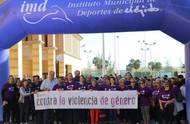 Medio millar de ejidenses expresan su rechazo a la violencia de género en la VII Ruta Urbana