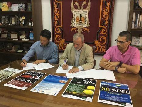 El Ayuntamiento de Vera firma con Citroën Salinas Car el patrocinio de eventos deportivos
