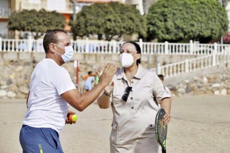 Garrucha y San Juan de los Terreros son sede de la 'V Copa Diputación de Tenis Playa'