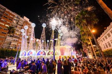 Almería luce una Navidad espectacular