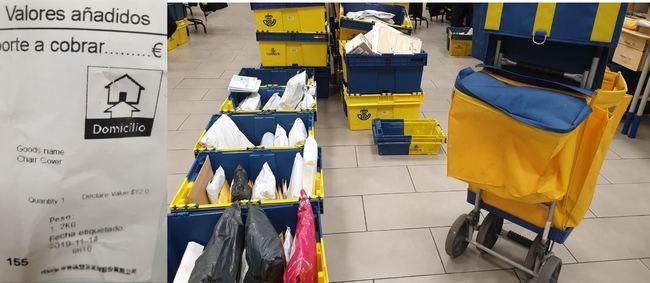 Correos acumula en Almería paquetes de hace casi un mes