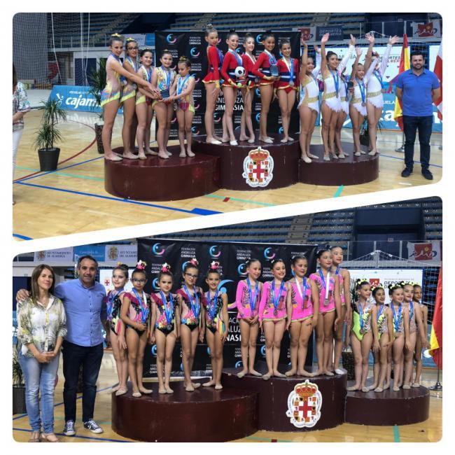 El CD Costarítmica, medalla de plata en Benjamín y Alevín del Campeonato Promesas de Andalucía