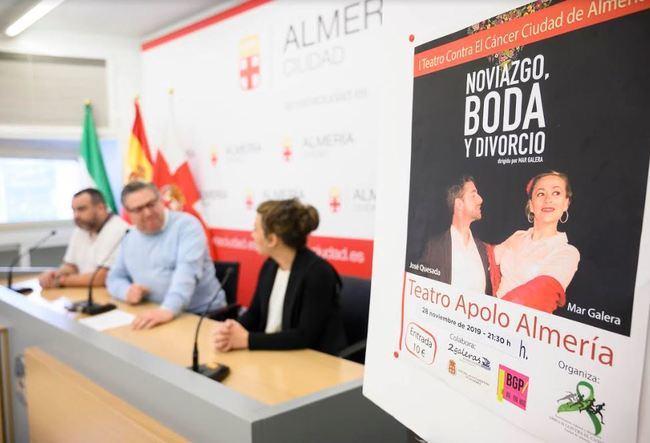 El Apolo recibe 'Noviazgo, Boda y Divorcio' a beneficio de Amigos Contra El Cáncer