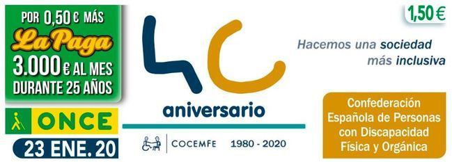 La ONCE reparte 350.000 euros en Almería