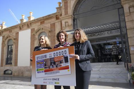 La fachada del Mercado Central en el cupón diario de la ONCE del 10 de febrero