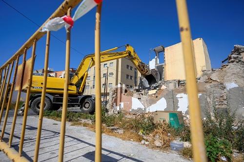 Últimas demoliciones en el Barrio Alto antes de la reurbanización