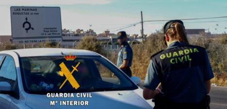 Le intervienen 50 gramos de hachís porque intentó despistar a la Guardia Civil