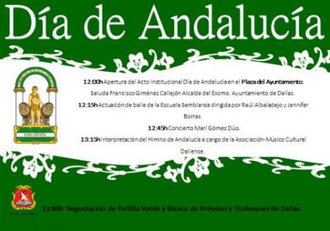 4 tortillas de 1.20 metros para celebrar en Dalías el Día de Andalucía