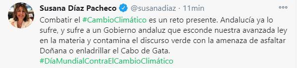 Susana Díaz acusa al PP de 'querer enladrillar' Cabo de Gata y oculta que el PSOE impulsó el hotel del Algarrobico