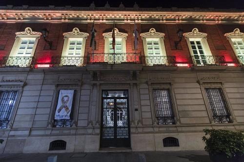 La Diputación se ilumina durante el puente con la bandera de España