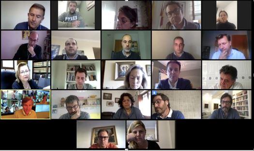 Javier A. García se reúne con los portavoces del PP en las diputaciones españolas