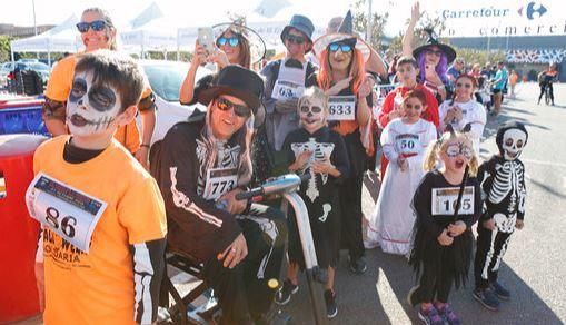 500 'seres terroríficos en la IV edición de la Carrera y Marcha Solidaria Halloween
