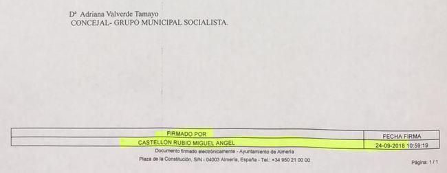 El equipo de Gobierno demuestra que el PSOE tenía la documentación que dijo en el pleno no haber recibido