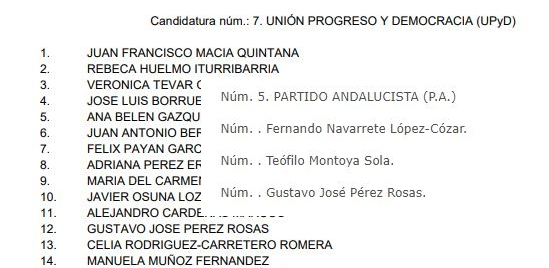 El director de campaña de Vox en Almería pasó por dos partidos y pidió apoyo para un socialista