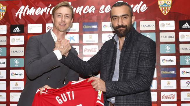 """Guti: """"Poder llevar al Almería a Primera División sería un gran sueño para mí"""""""