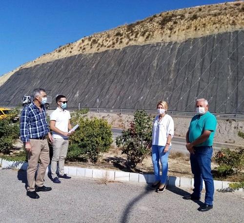 Fomento visita el fin de los trabajos de mejora de la A-334 en Olula del Río