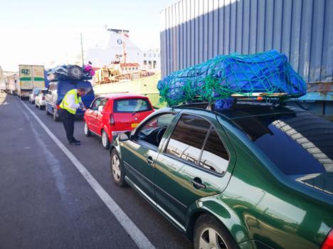 Las navieras ofrecen más de 50.00 plazas semanales entre Almería y el norte de África en la OPE 2019